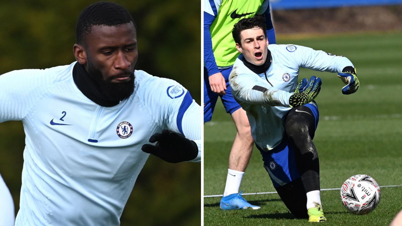 Rudiger ẩu đả với Kepa trên sân tập Chelsea