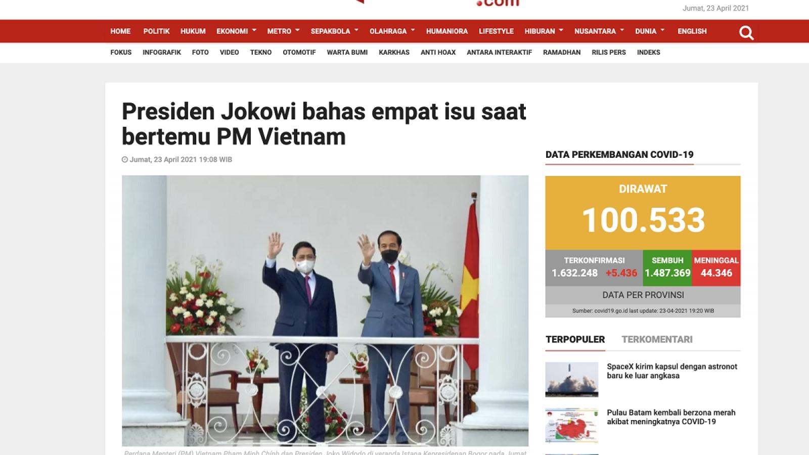 Báo chí Indonesia đưa tin chuyến công tác của Thủ tướng Việt Nam dự Hội nghị ASEAN