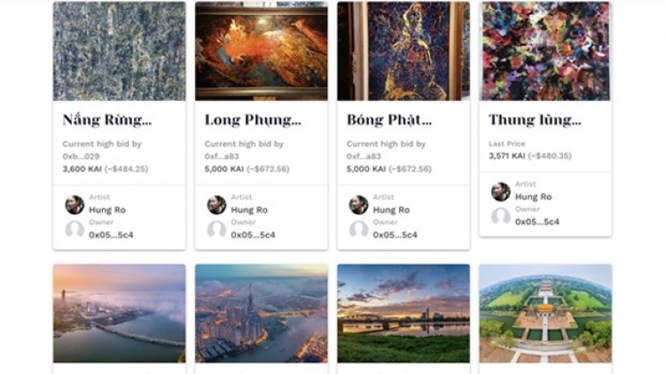"""Cong Troi"" project offers artworks in digital form"