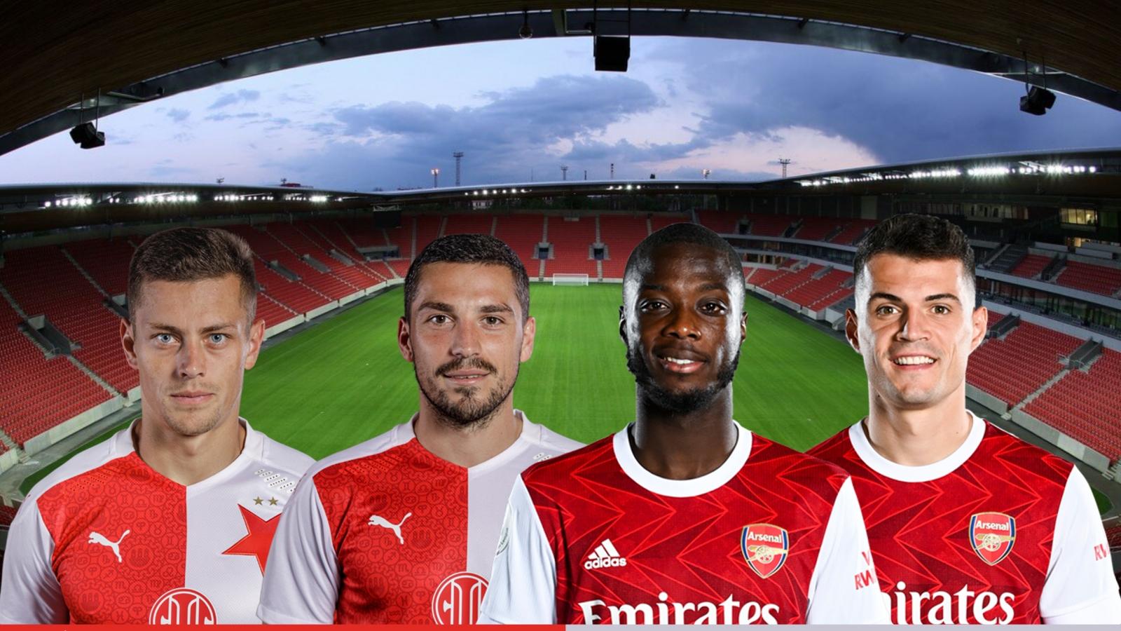 Dự đoán tỷ số, đội hình xuất phát trận Slavia Praha - Arsenal