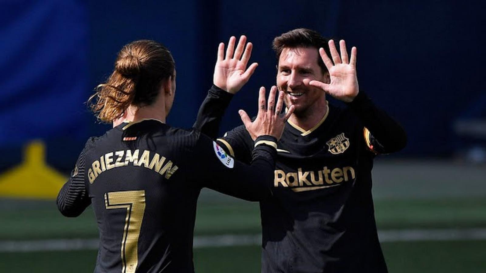 """Đánh bại Villarreal, Barca """"thổi lửa"""" vào Atletico Madrid ở cuộc đua vô địch La Liga"""