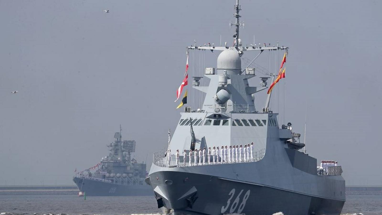 Nga điều nhiều tàu chiến đến tập trận tại Biển Đen khi tình hình Ukraine nóng trở lại