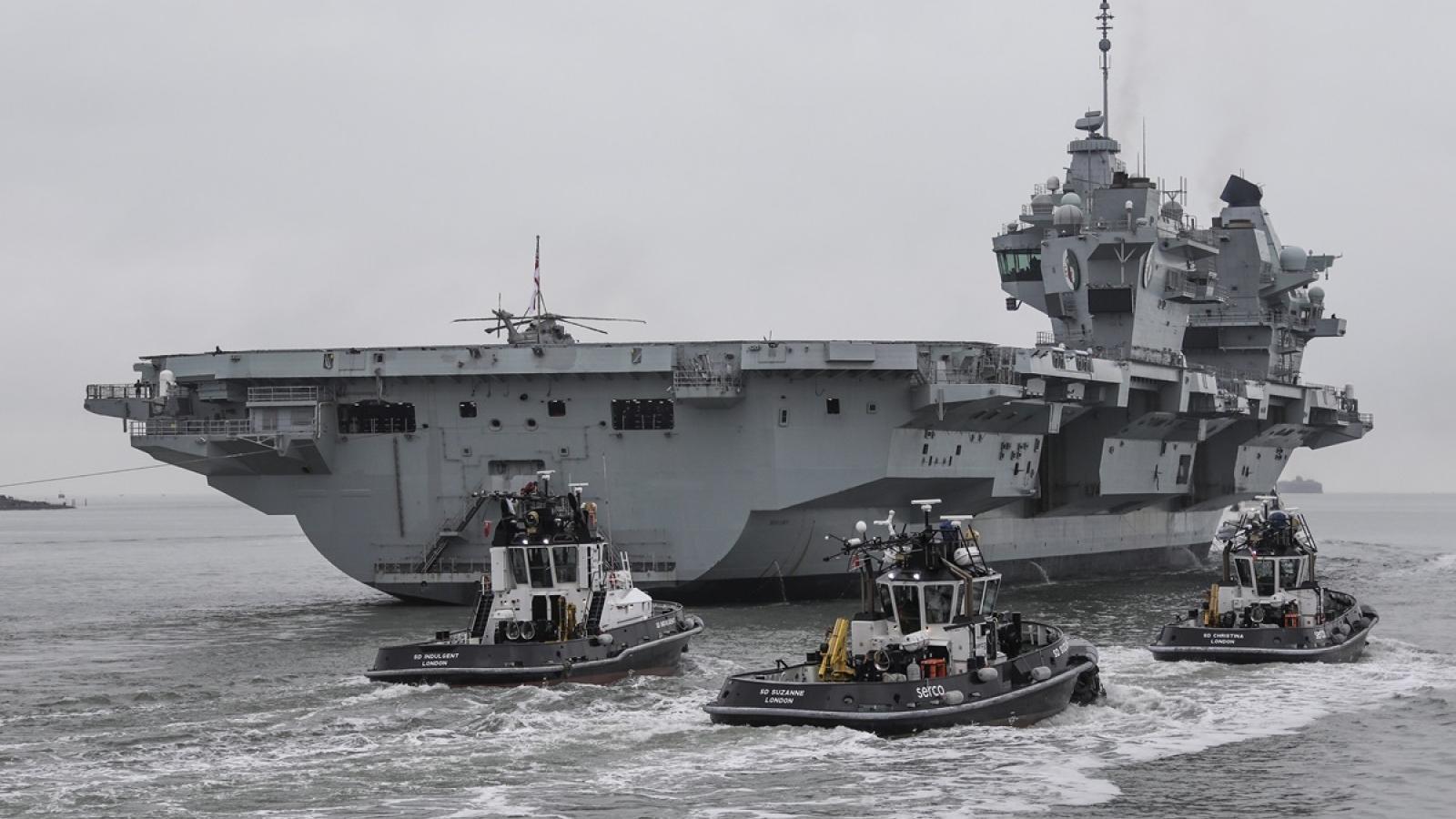 Anh sẽ đưa nhóm tàu chiến, tàu sân bay tới khu vực Ấn Độ Dương-Thái Bình Dương