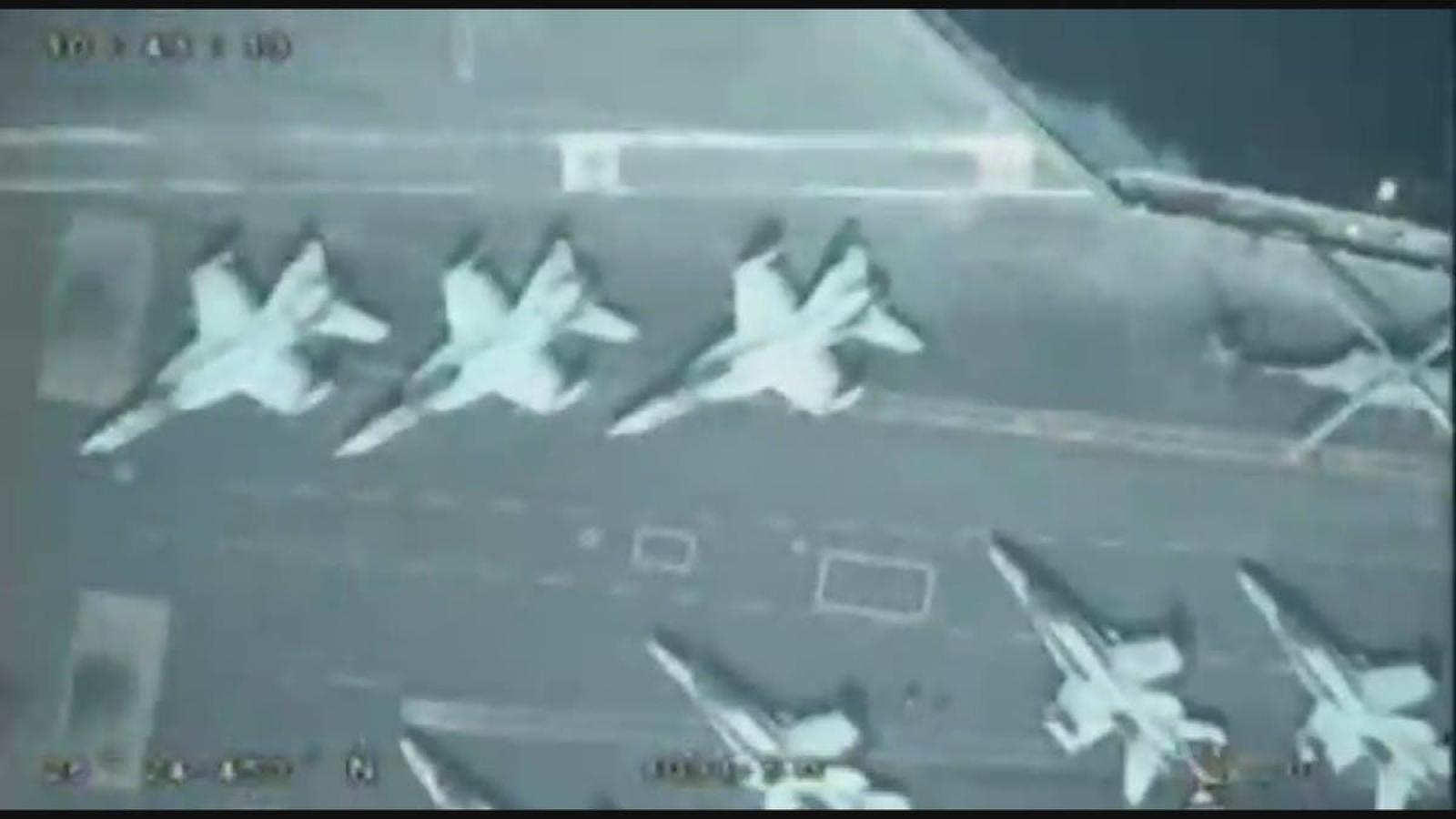 Iran công bố video theo dõi tàu sân bay Mỹ ở Vịnh Ba Tư