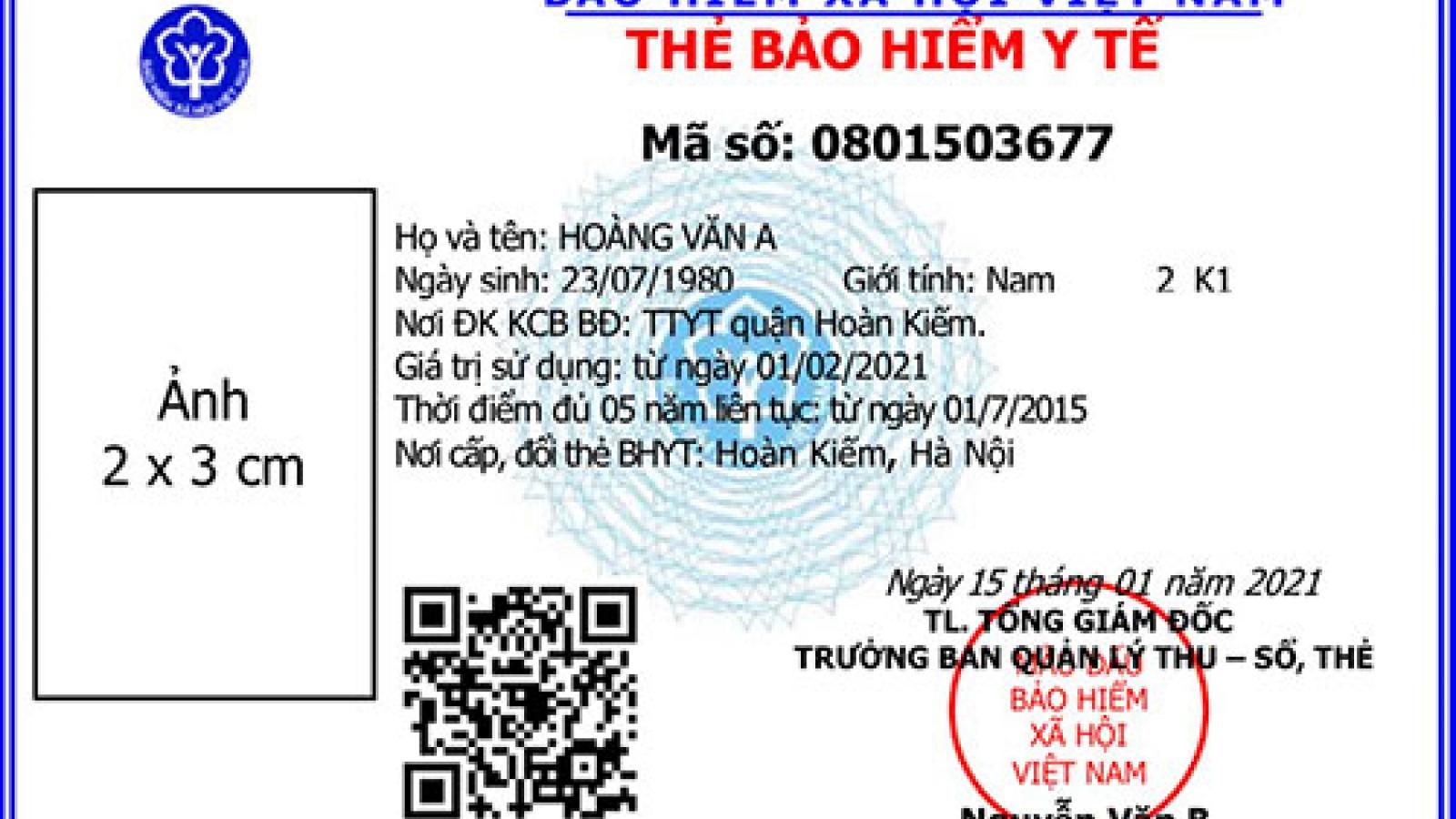 Khi nào được cấp thẻ BHYT mẫu mới?