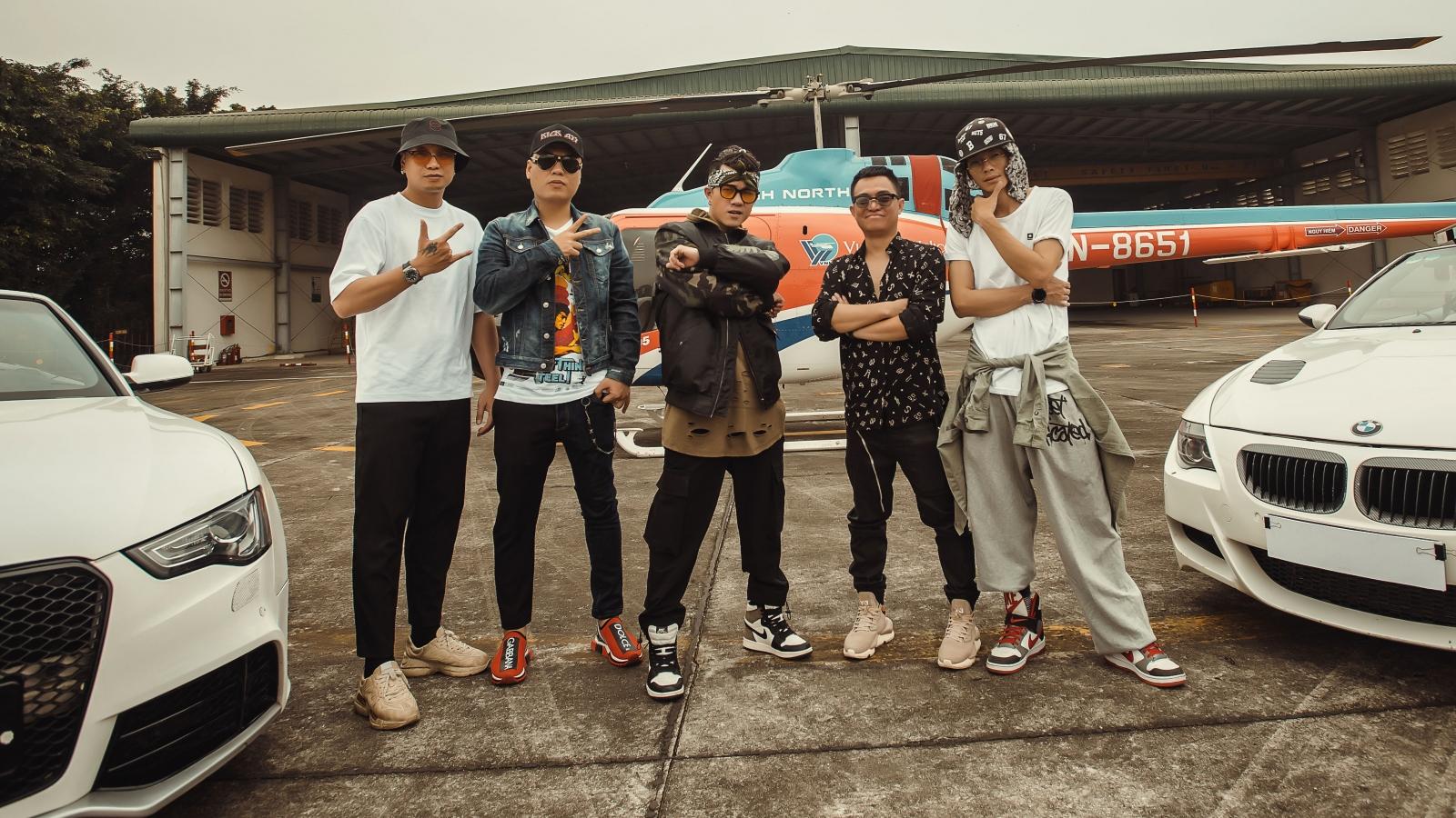 """LK mang điếu cày lên trực thăng, cùng Young Uno """"du ngoạn"""" trong MV mới"""