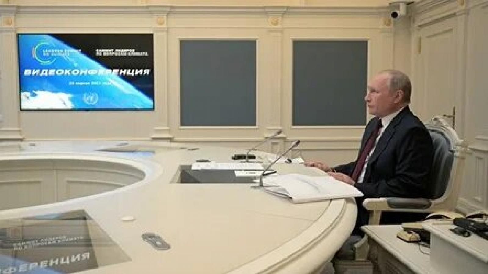 Tổng thống Nga V.Putin kêu gọi các nước LHQcùng nhau chống biến đổi khí hậu