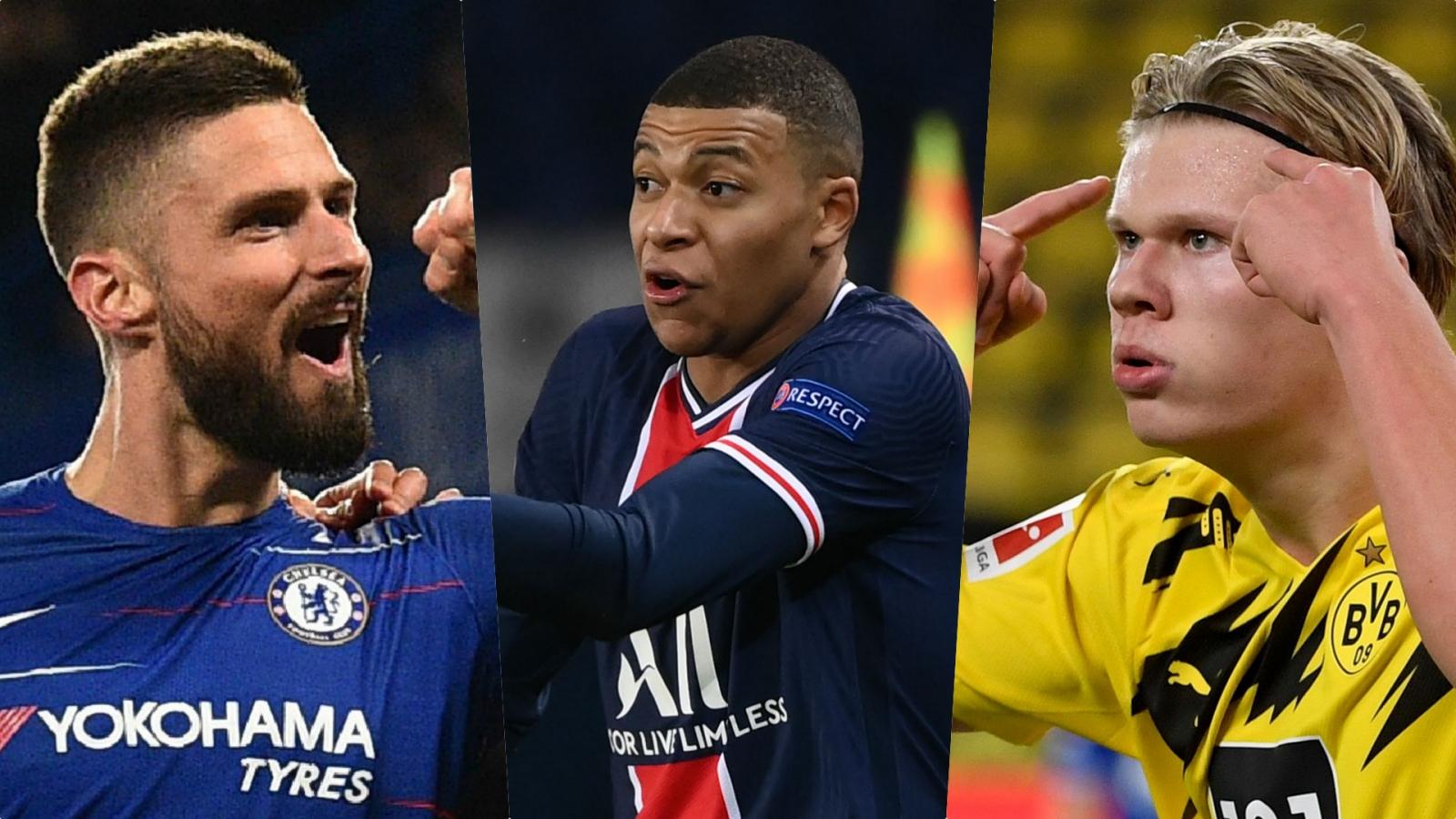 """Cuộc đua """"vua phá lưới"""" Champions League 20/21: Câu chuyện riêng của Haaland và Mbappe"""