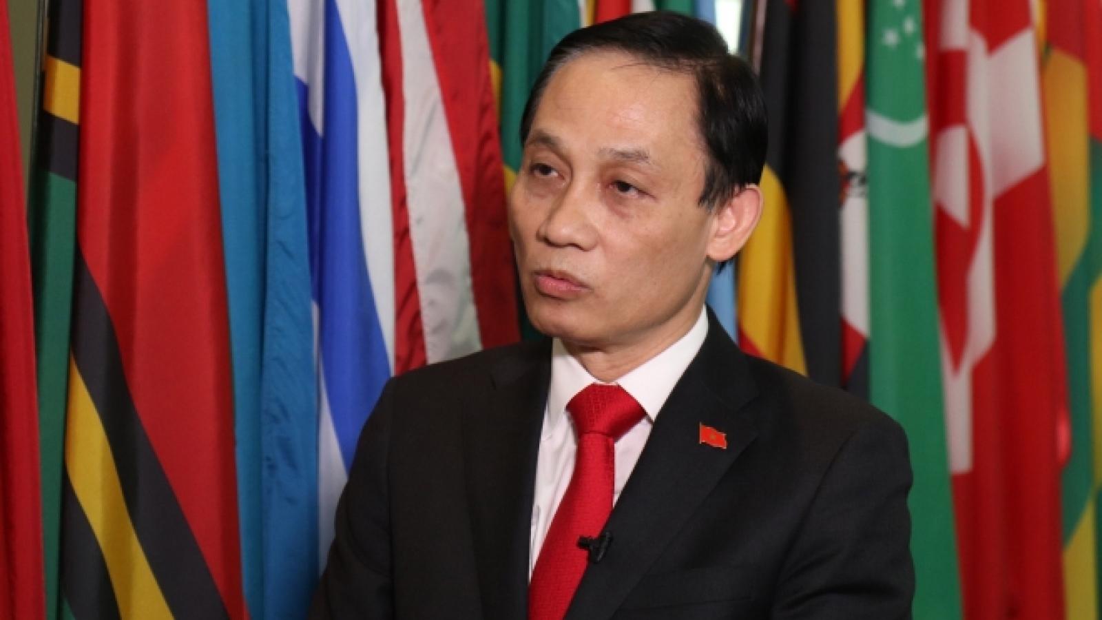 Trưởng ban Đối ngoại Trung ương Lê Hoài Trung hội đàm với Bộ trưởng ngoại giao Singapore