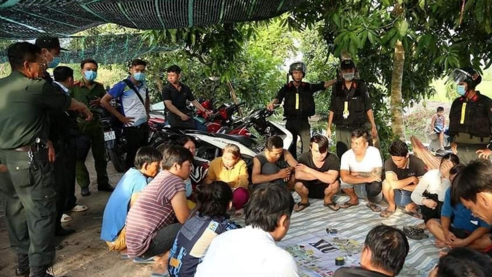 Bộ Công an hỗ trợ Công an Tiền Giang triệt phá 2 sới gà