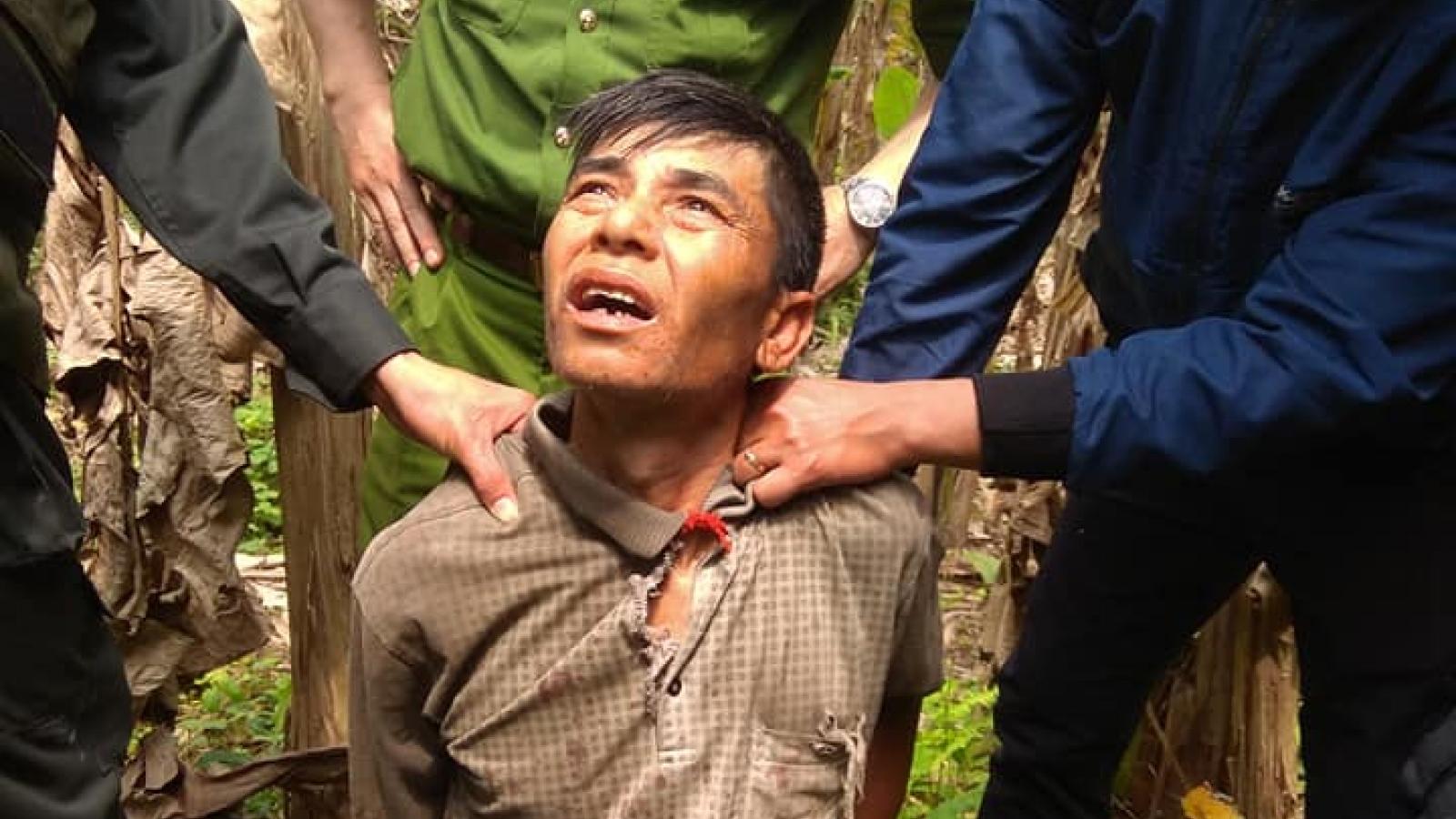 Truy bắt đối tượng hạ sát bố đẻ sau 5 giờ gây án ở Sơn La