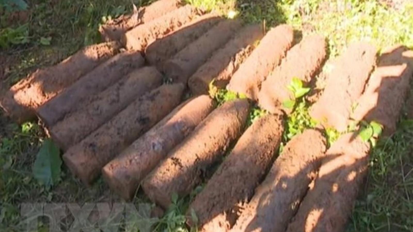 Quảng Trị phát hiện gần 500 quả đạn, vật nổ trong hầm đạn ở rừng keo