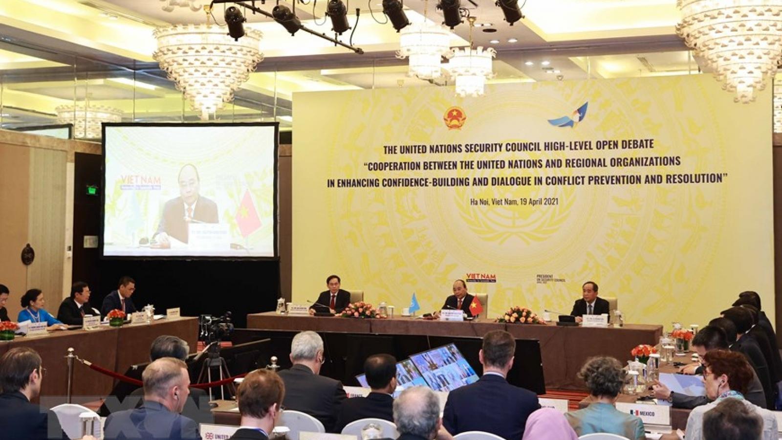 """""""Chỉ có hợp tác, đối thoại mới có thể kiến tạo hòa bình, ổn định và thịnh vượng"""""""