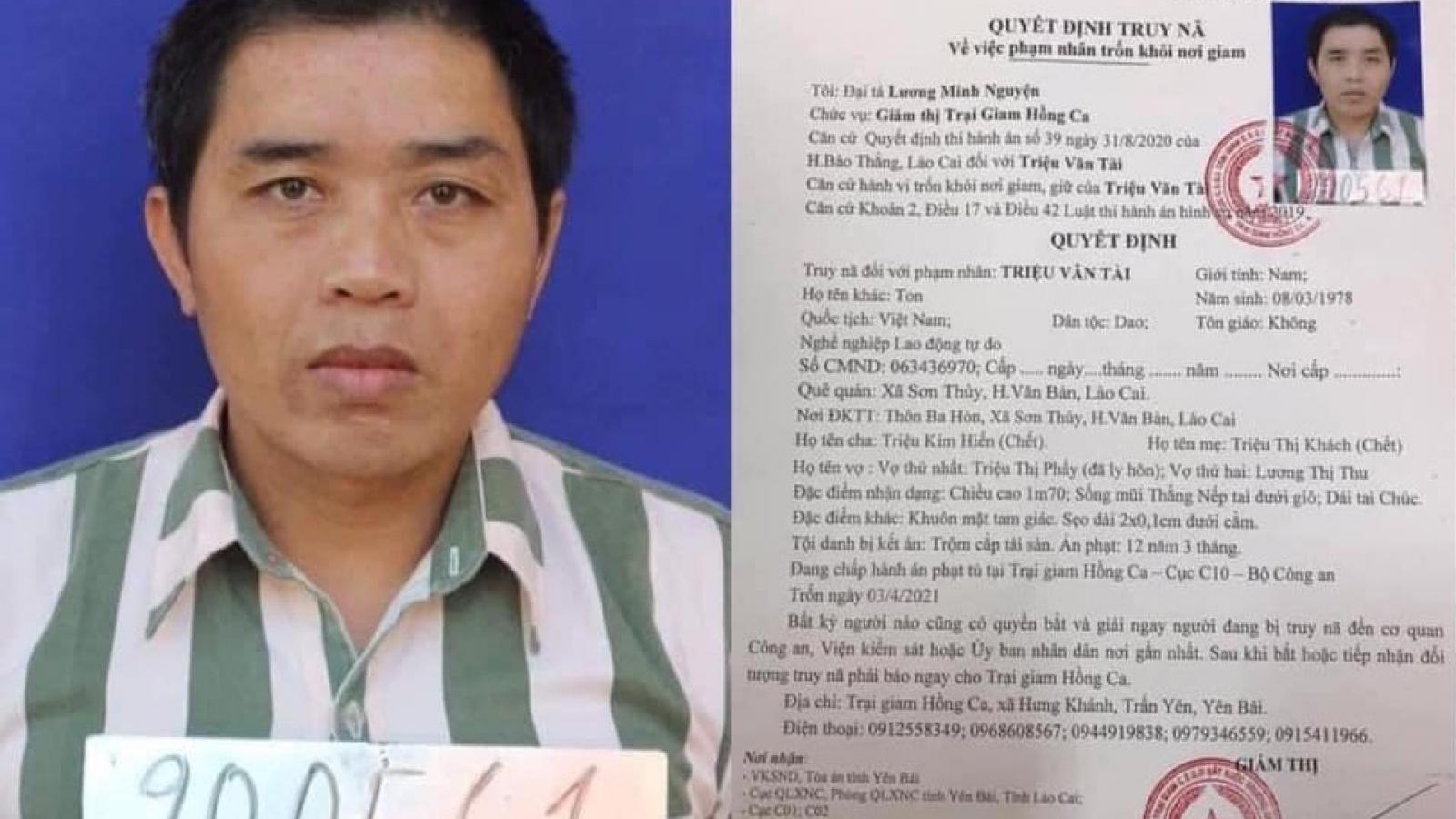 Hàng trăm cán bộ, chiến sỹ truy bắt phạm nhân trốn trại ở Yên Bái