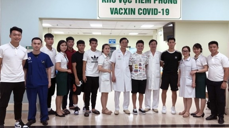 Vaccination of national men's football team completed