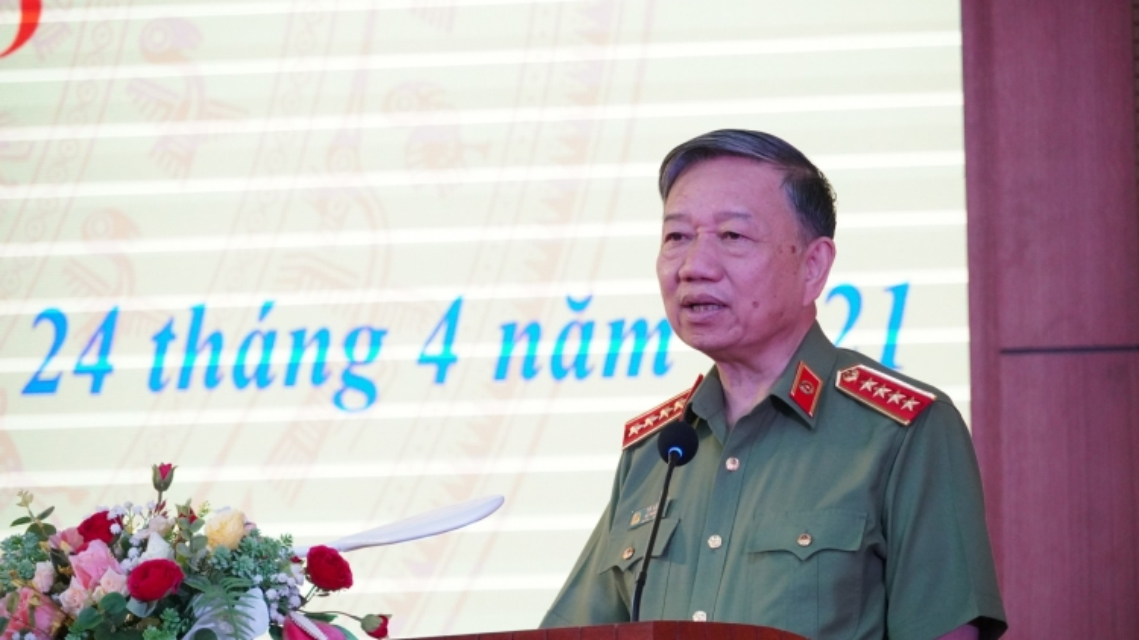 Bộ trưởng Tô Lâmdự kỷ niệm 75 năm Ngày thành lập Ty Công an Hải Dương