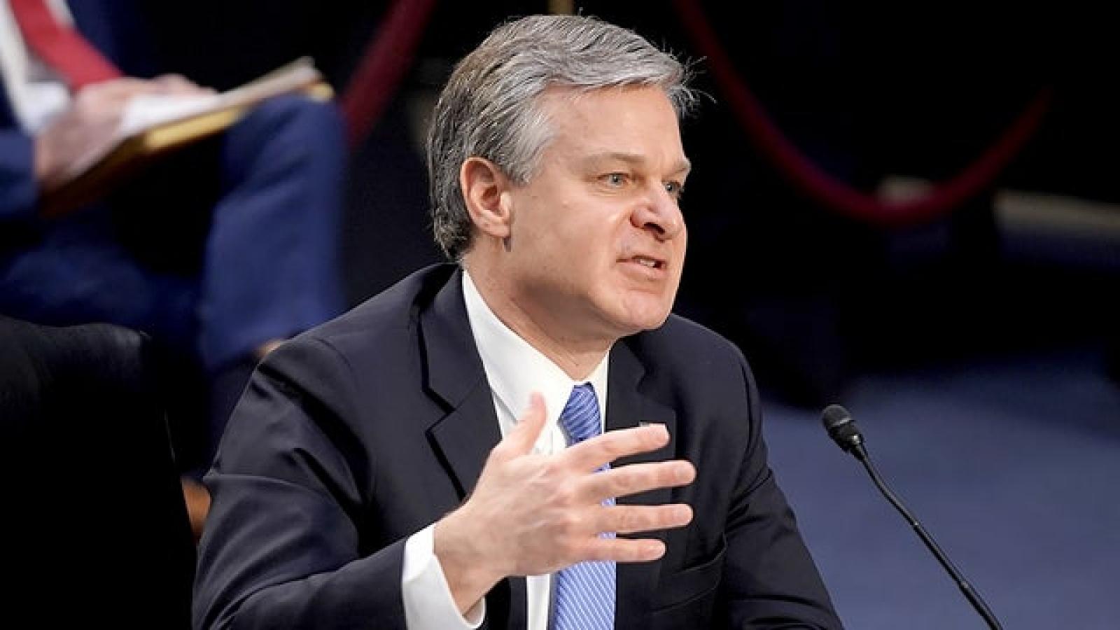 """Giám đốc FBI: """"Mỹ mở cuộc điều tra về Trung Quốc 10 giờ một lần"""""""