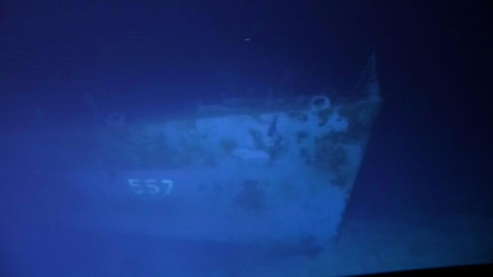 Cận cảnh xác tàu khu trục USS Johnston của Hải quân Mỹ dưới đáy biển Philippine