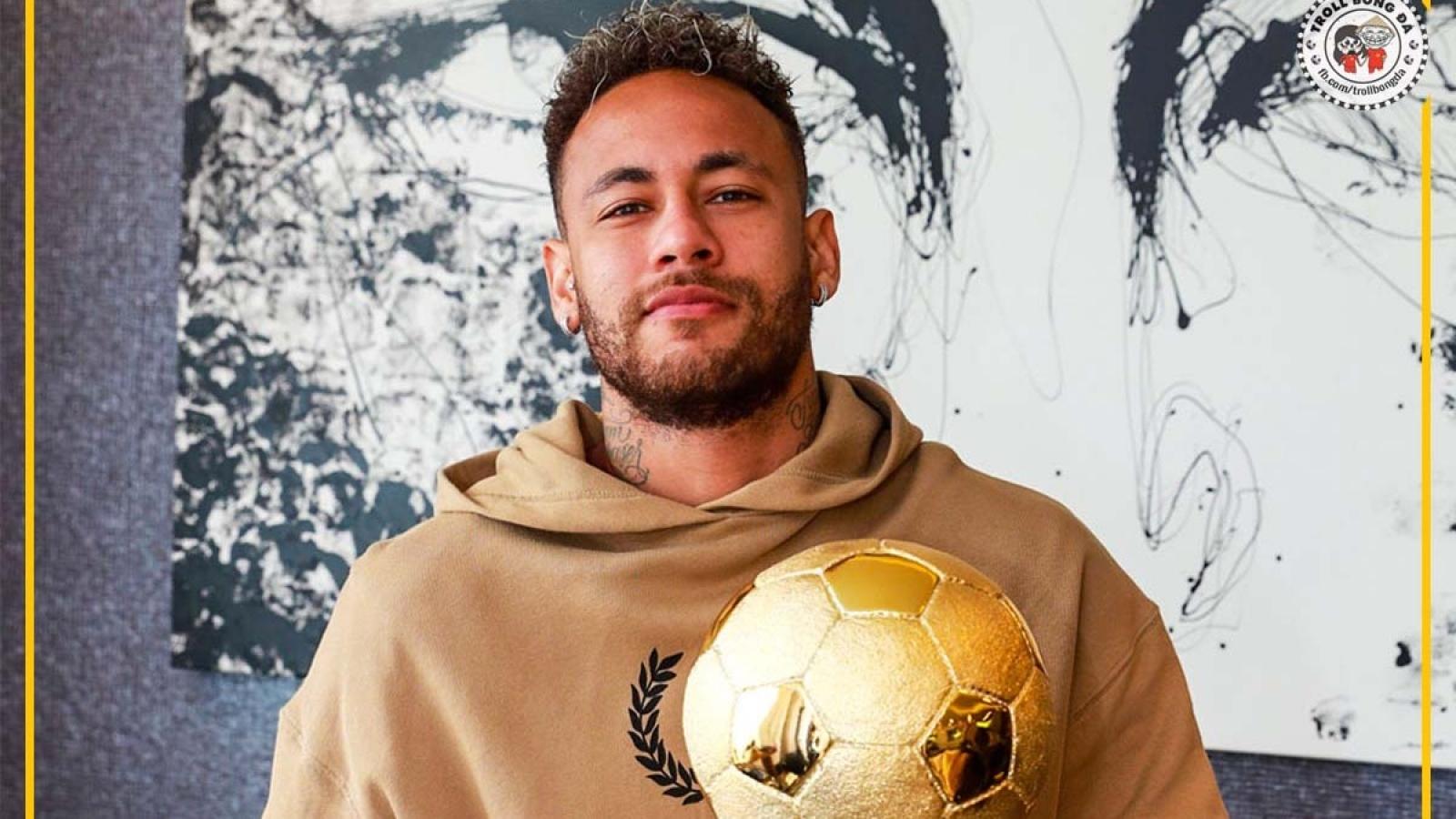 Biếm họa 24h: Neymar nhận danh hiệu Quả bóng Vàng... Brazil