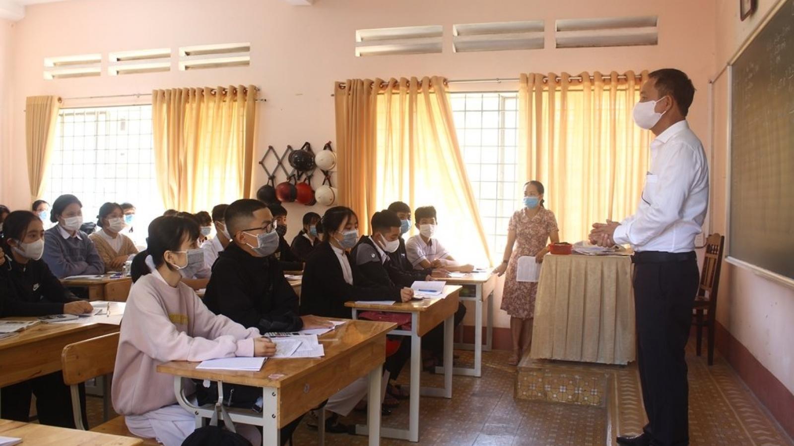 ĐắkLắk đẩy nhanh tiến độ hoàn thành thi học kỳ II trước ngày13/5