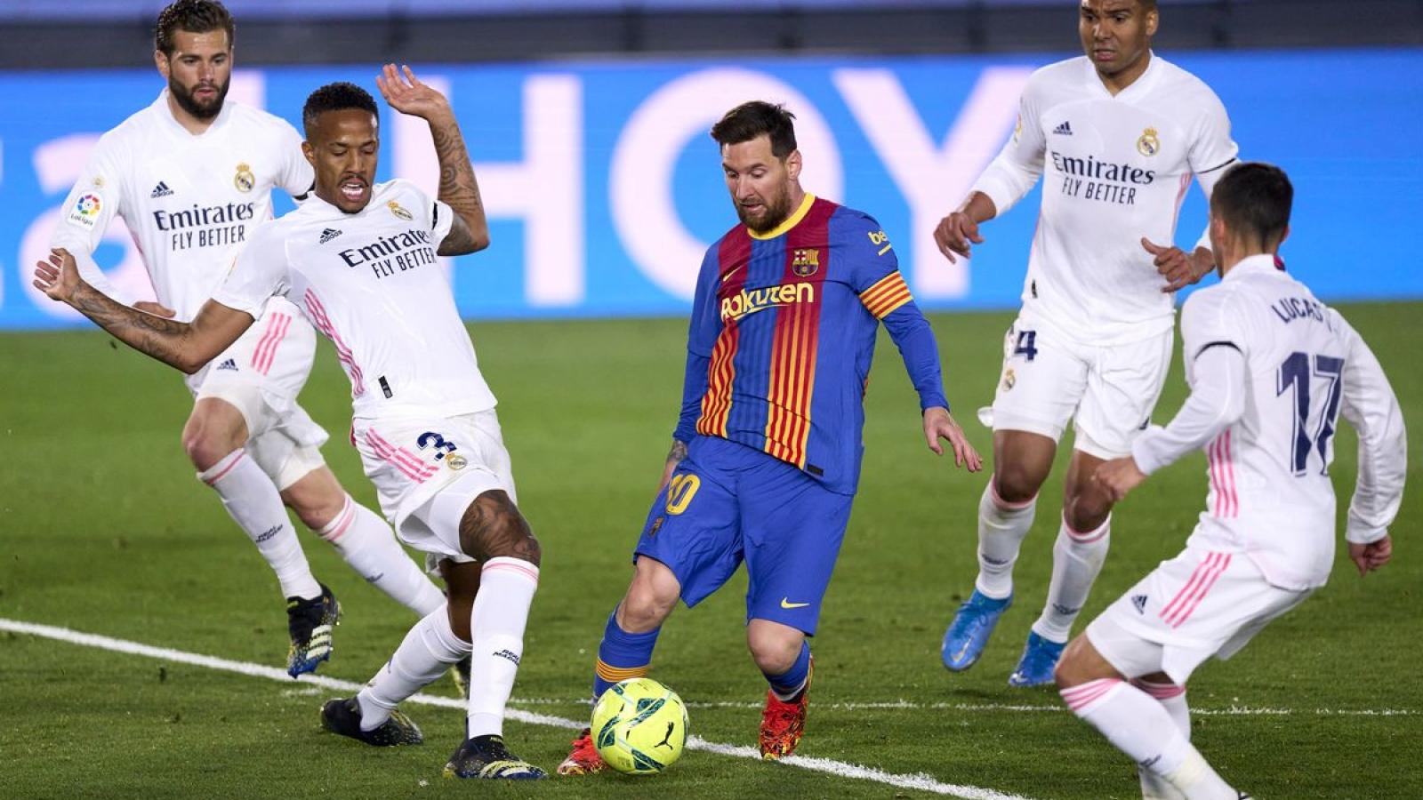 Siêu kinh điển Barca - Real Madrid xuất hiện ở Siêu Cúp Tây Ban Nha