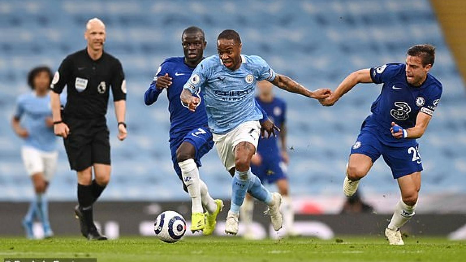 TRỰC TIẾP Man City 1-0 Chelsea: Sterling mở tỷ số, Aguero đá hỏng phạt đền