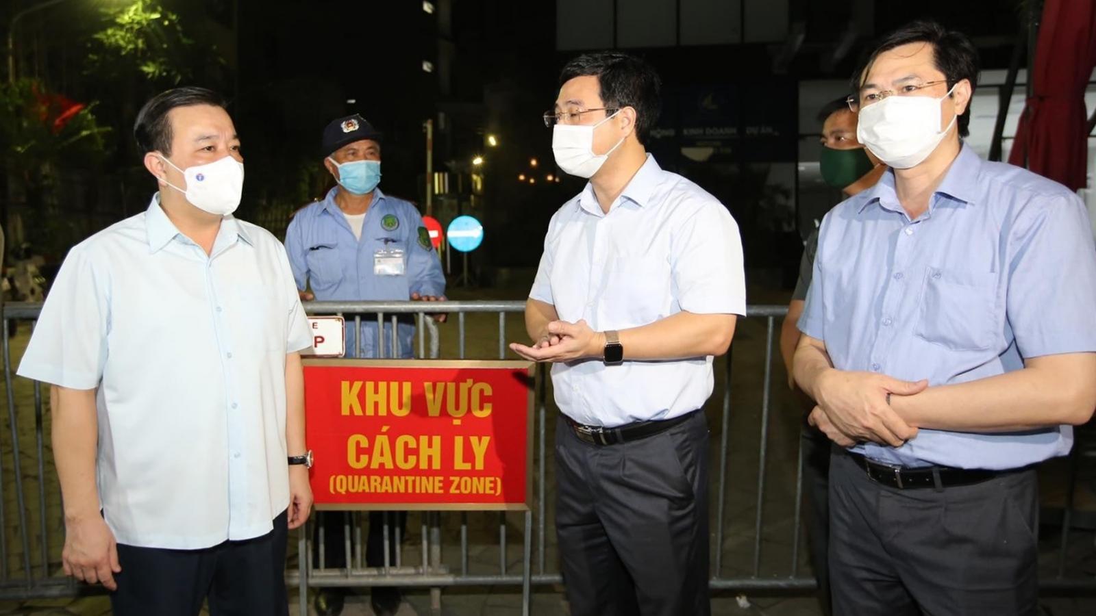 Phó Chủ tịch Hà Nội kiểm tra khu vực có ca mắc Covid-19 tại quận Hoàng Mai