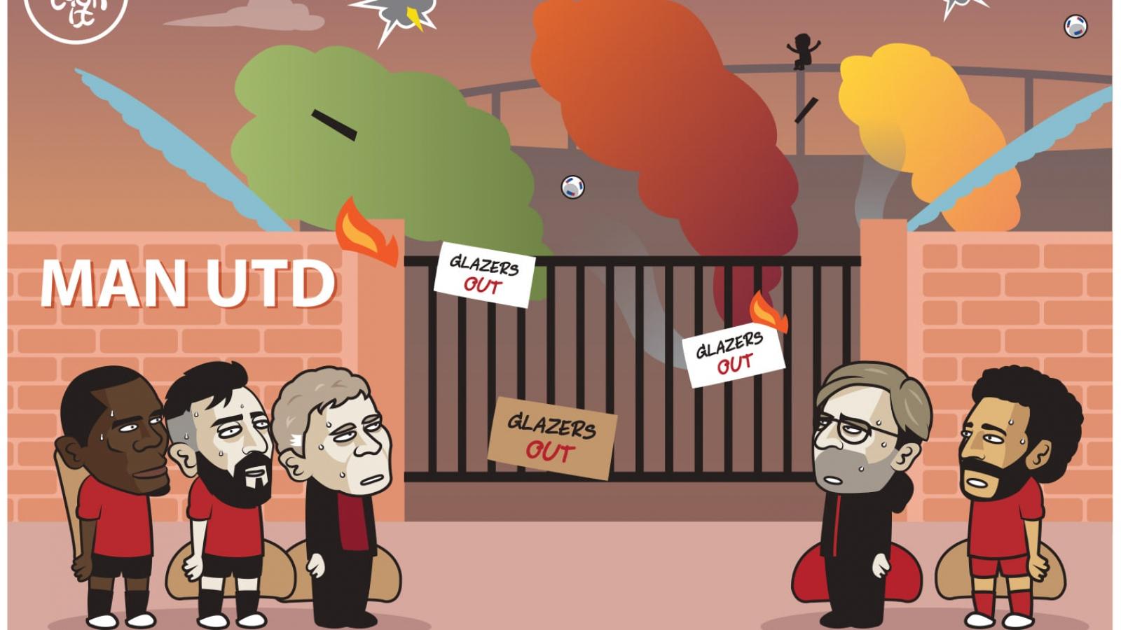 Biếm họa 24h: Bước ngoặt khiến MU và Liverpool không thể ngờ tới