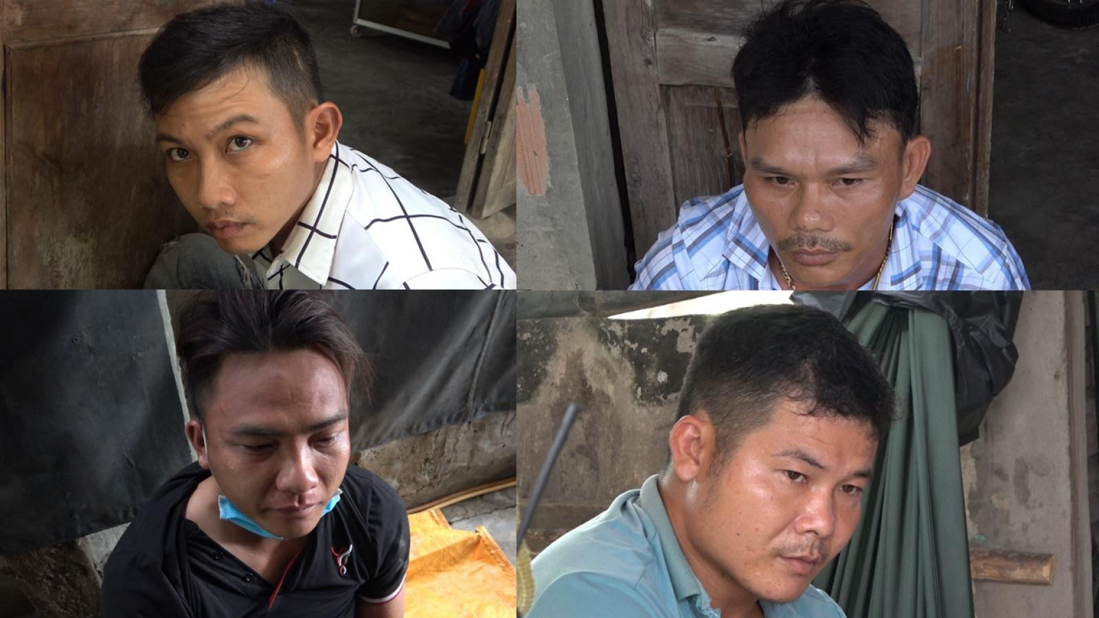 """Bắt giữ 5 đối tượng chuyên """"bảo kê"""" có súng tại Tiền Giang"""