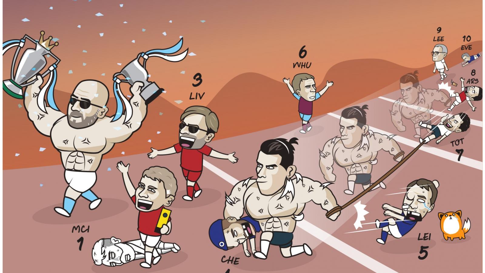 "Biếm họa 24h: Bale ""bế"" HLV Tuchel đến Champions League"
