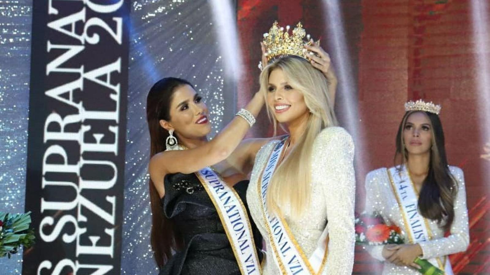 Cận cảnh nhan sắc gợi cảm của tân Hoa hậu Siêu quốc gia Venezuela