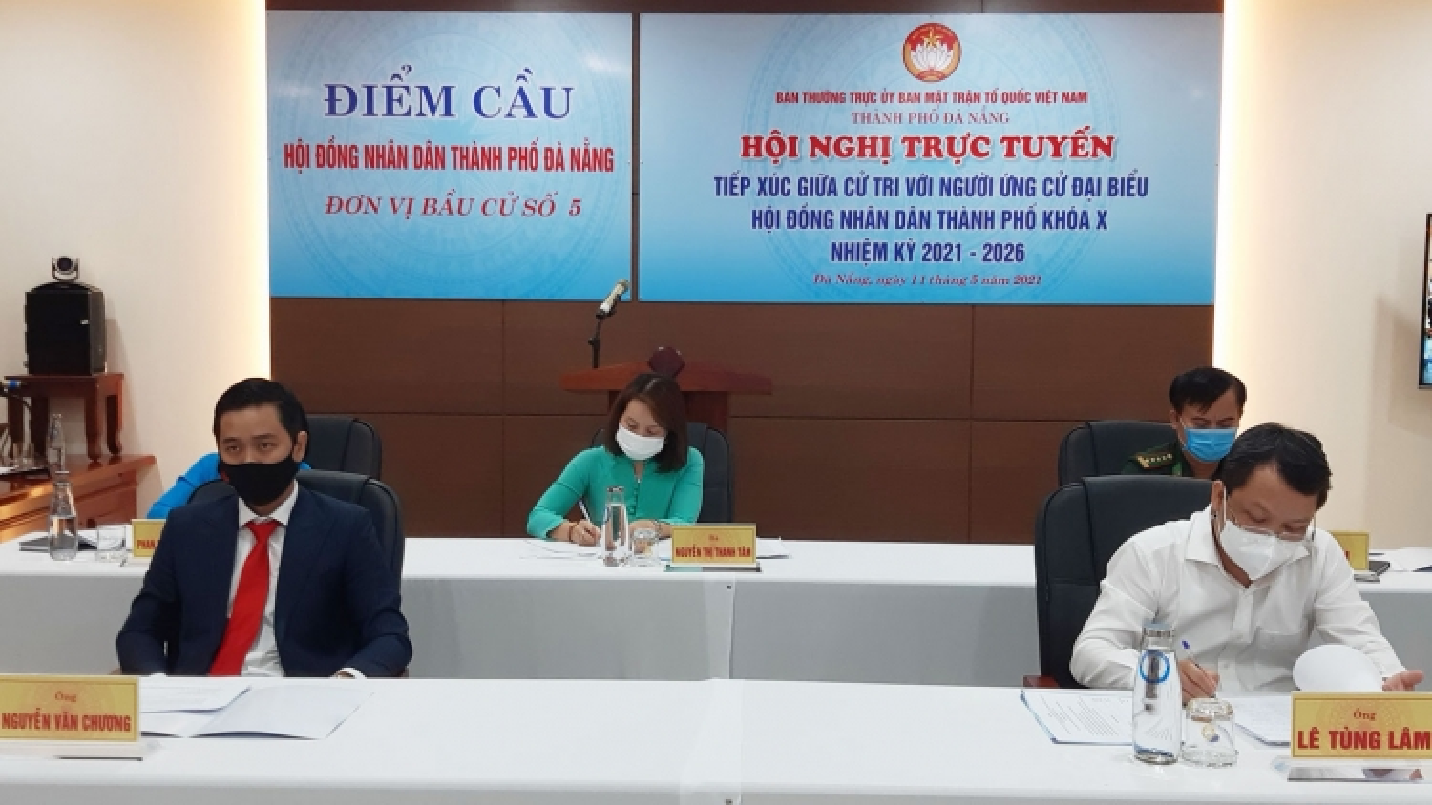 Ngày đầu tiên Đà Nẵng tổ chức tiếp xúc cử tri vận động bầu cử trực tuyến