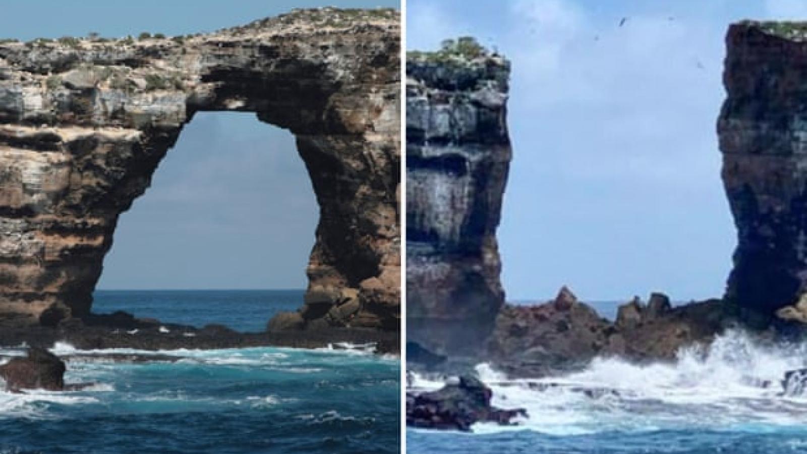 """Nguyên nhân sụp đổ của kỳ quan tự nhiên """"vòm đá Darwin"""" ở Ecuador"""