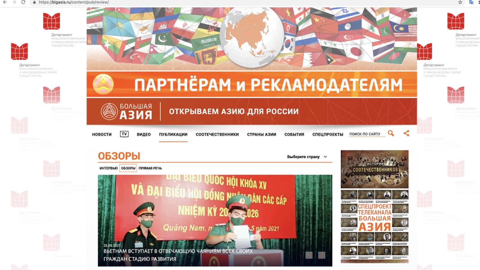 Học giả Nga: Bầu cử Quốc hội là sự kiện lớn trong đời sống chính trị Việt Nam