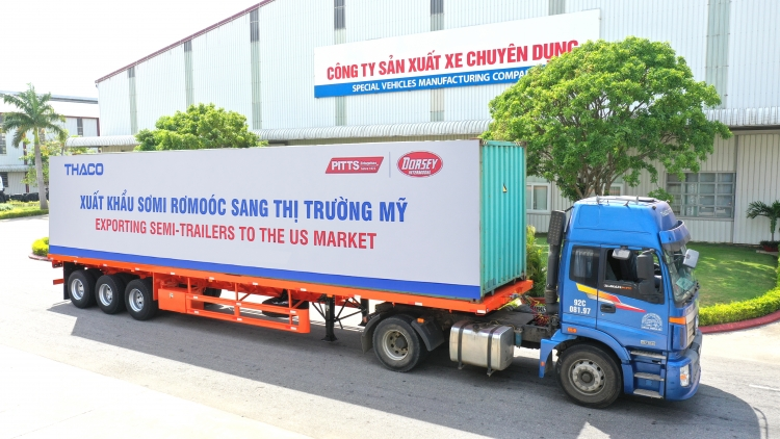 Thaco đẩy mạnh xuất khẩusơmi rơmoócsang thị trường Mỹ