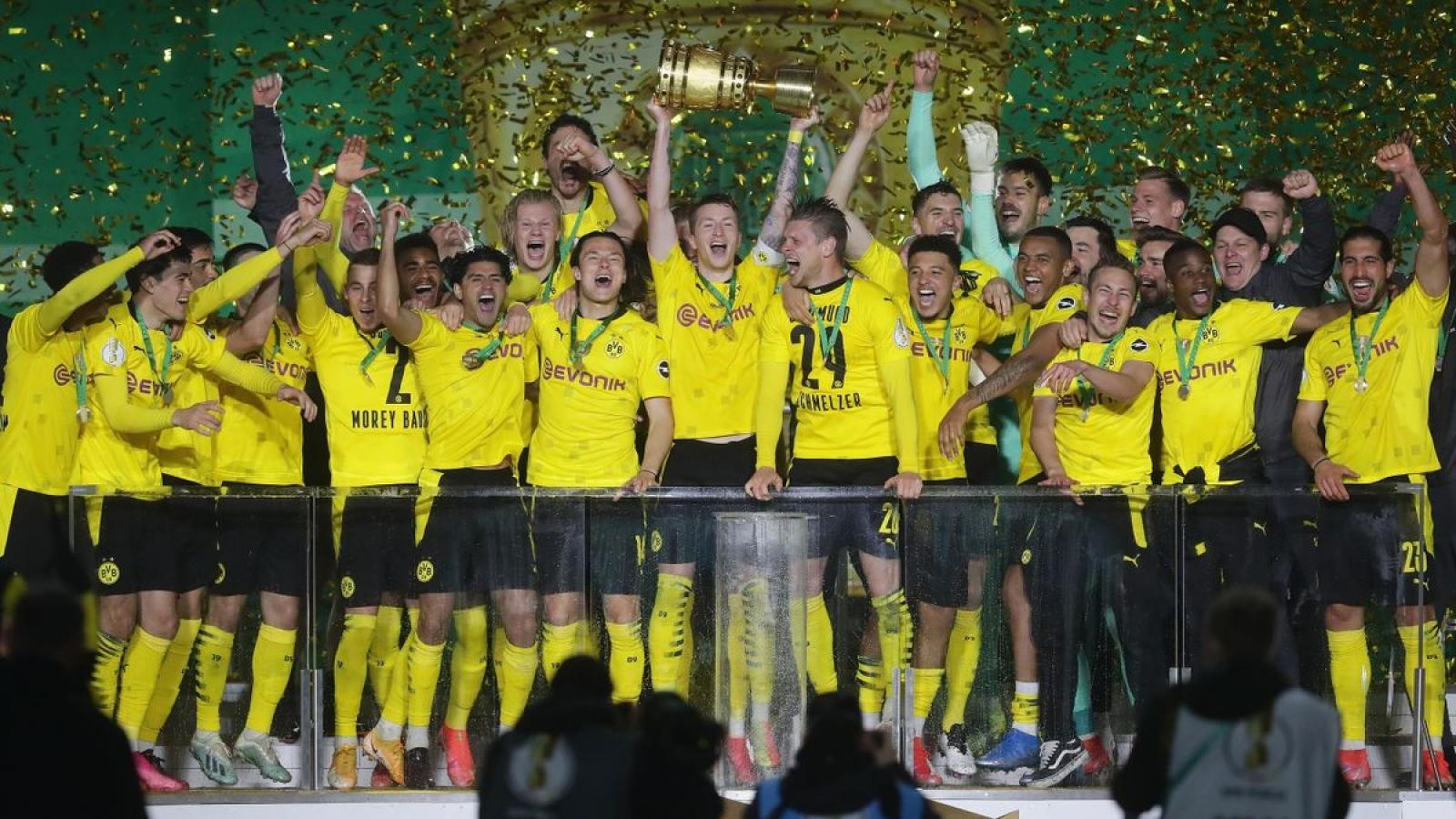 Haaland rực sáng ở chung kết Cúp QG Đức, sở hữu danh hiệu đầu tiên cùng Dortmund