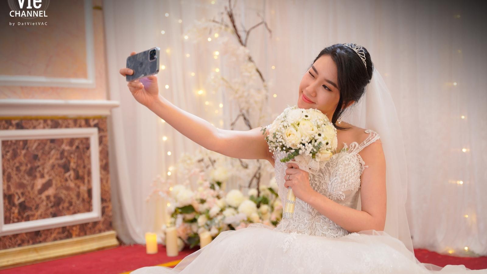 Thúy Ngân muốn lấy chồng khi quay cảnh mặc áo cưới