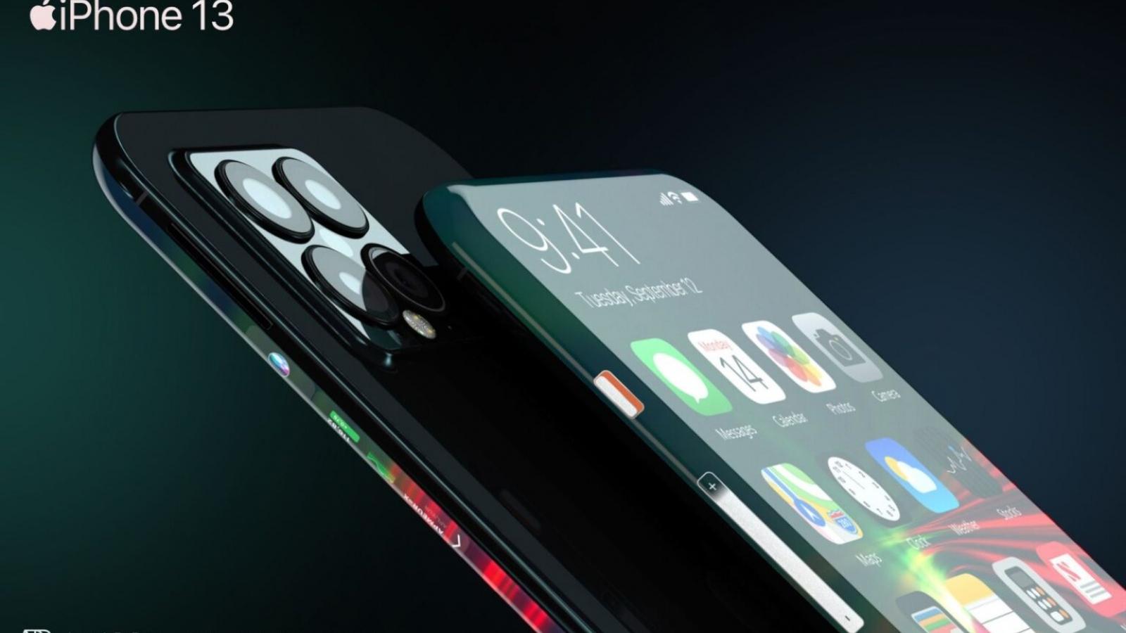 Ngắm iPhone 13 màn hình thác nước, camera selfie kép dưới màn hình