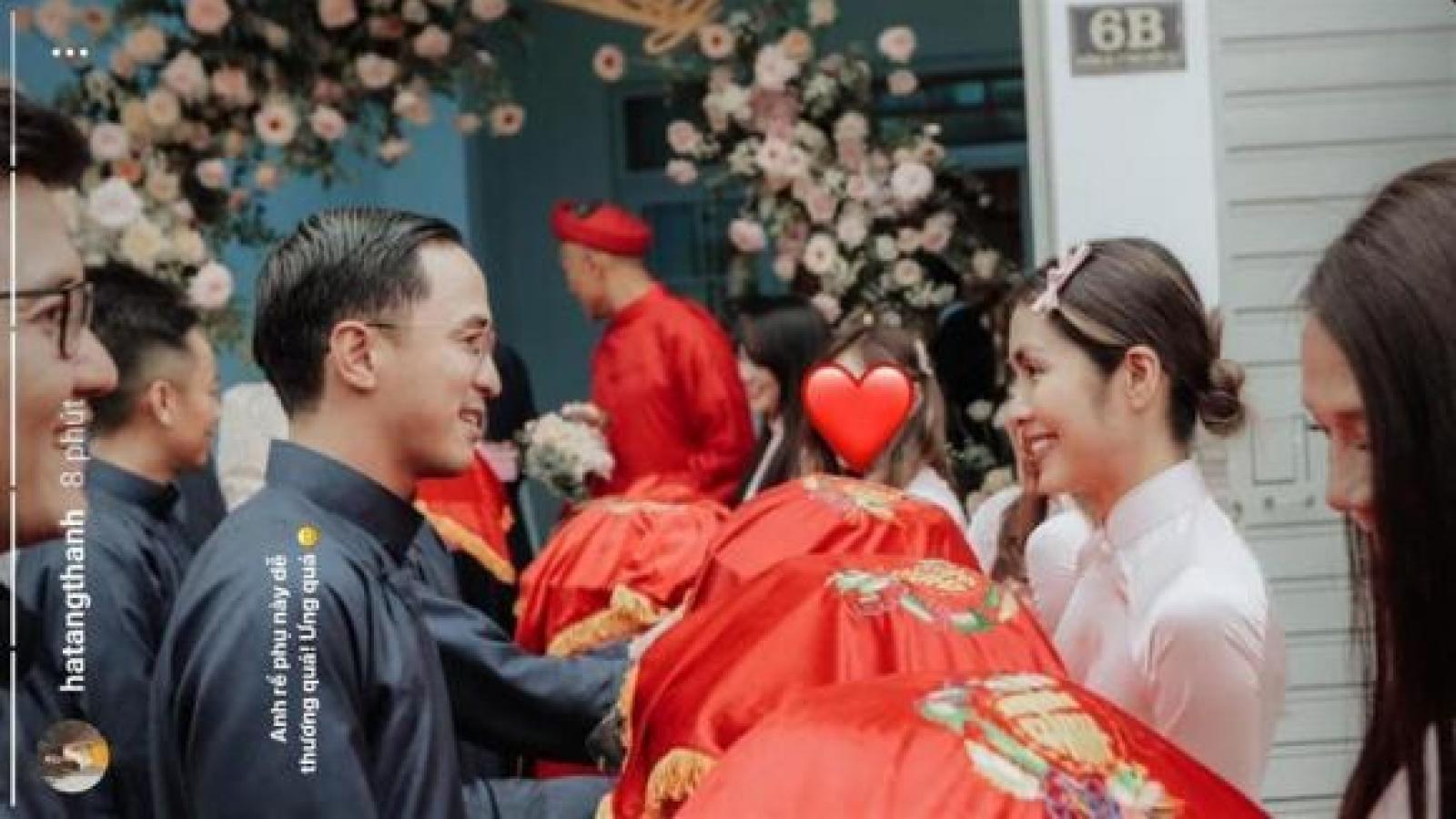 Chuyện showbiz: Tăng Thanh Hà và ông xã làm phù dâu - phù rể trong đám cưới bạn thân