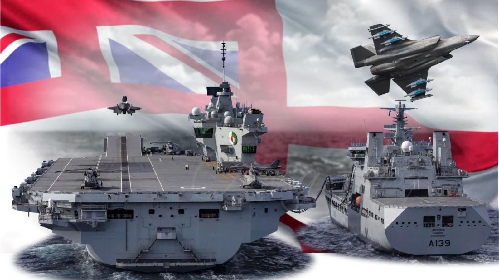 """HMS Queen Elizabeth - """"trái tim"""" của hạm đội viễn dương Hoàng gia Anh"""