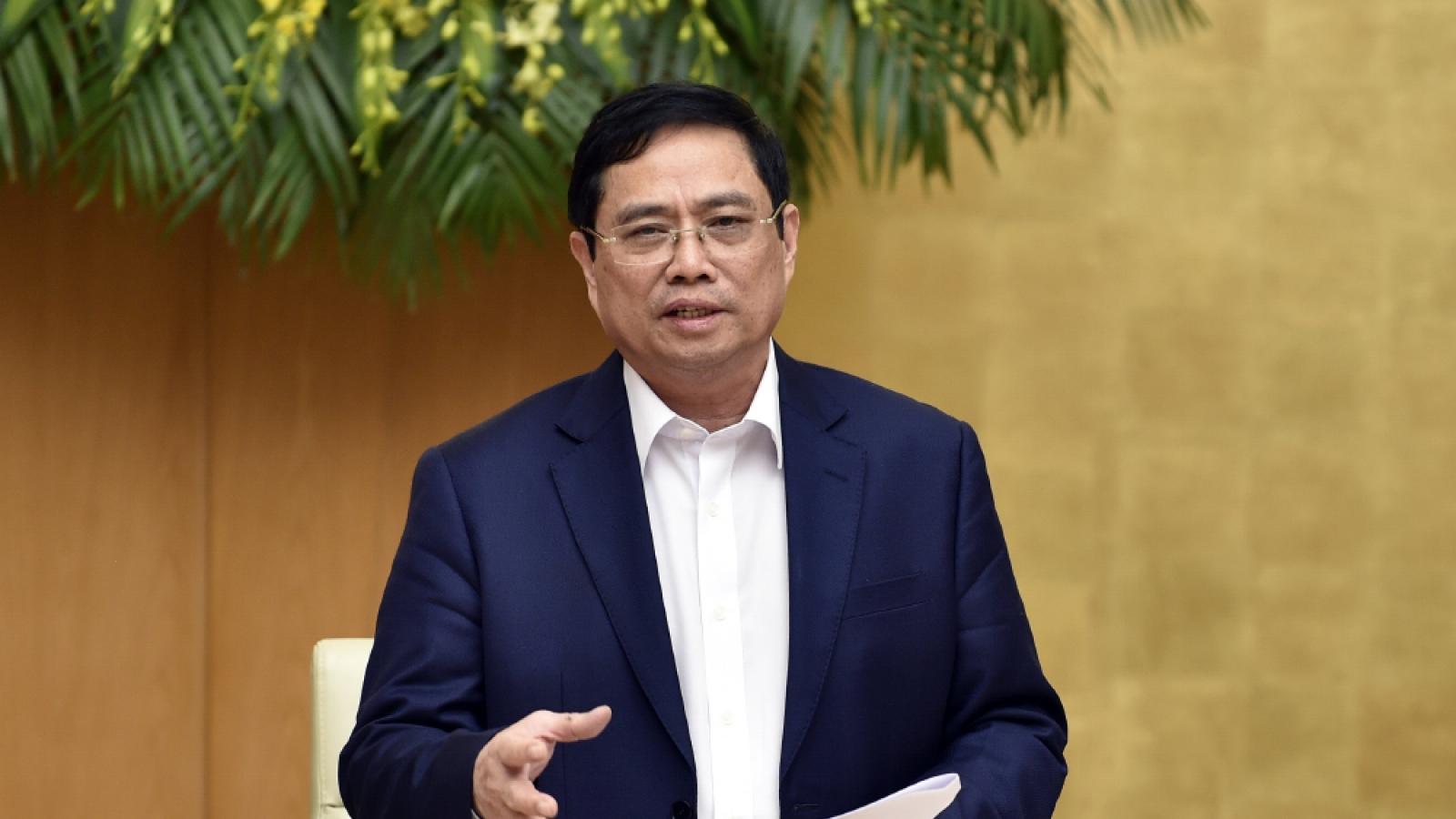 Thủ tướng Phạm Minh Chính yêu cầu đẩy nhanh tiến độ đầu tư công