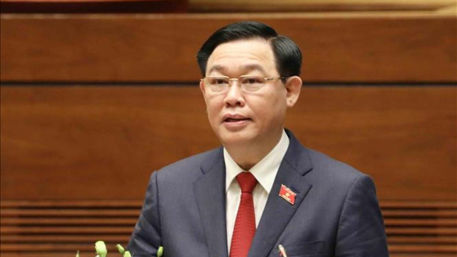Lãnh đạo Nghị viện các nước chúc mừng Chủ tịch Quốc hội Vương Đình Huệ