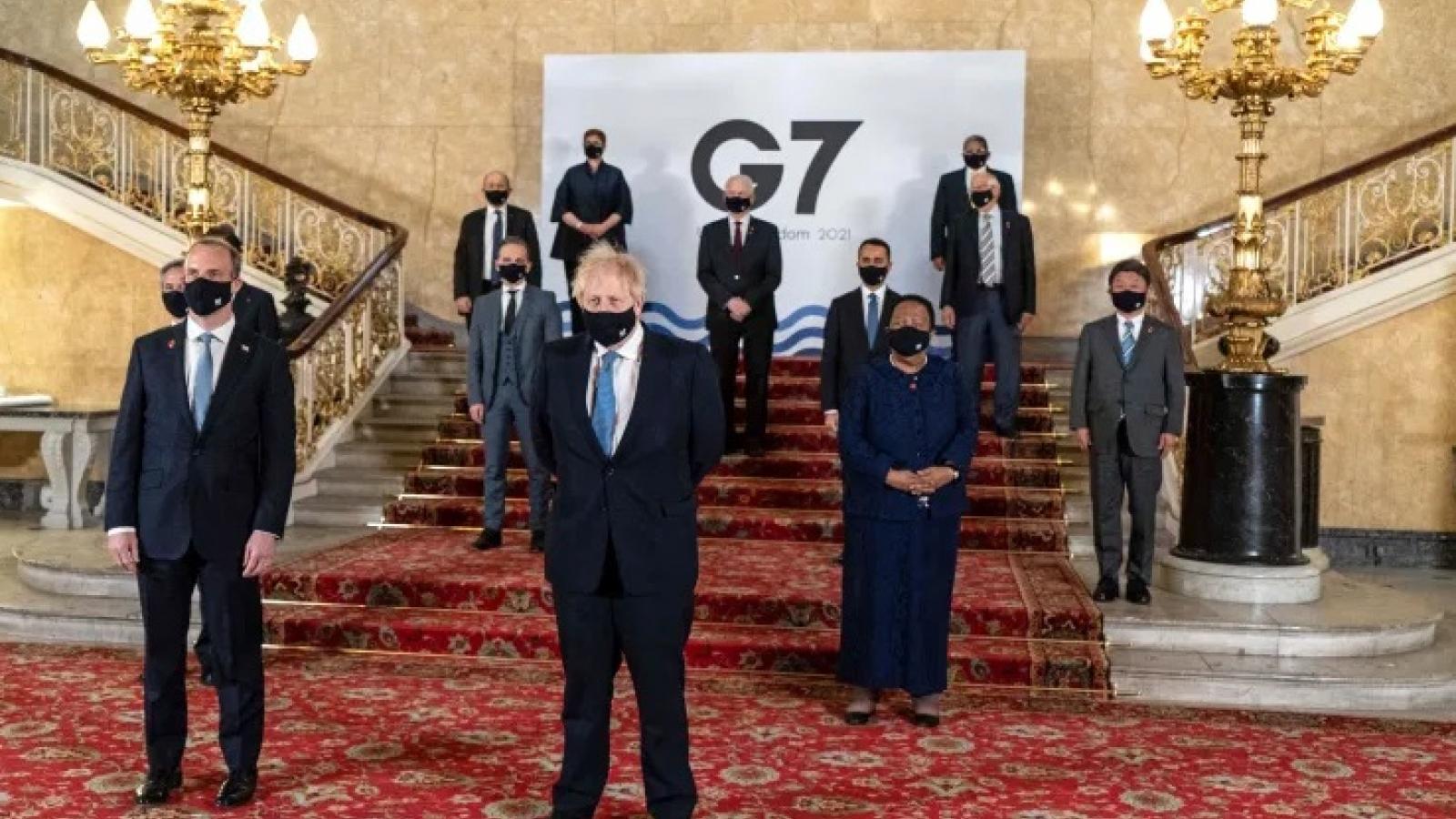 """Hội nghị Ngoại trưởng G7 thảo luận """"các mối đe dọa đang nổi"""" từ Nga và Trung Quốc"""