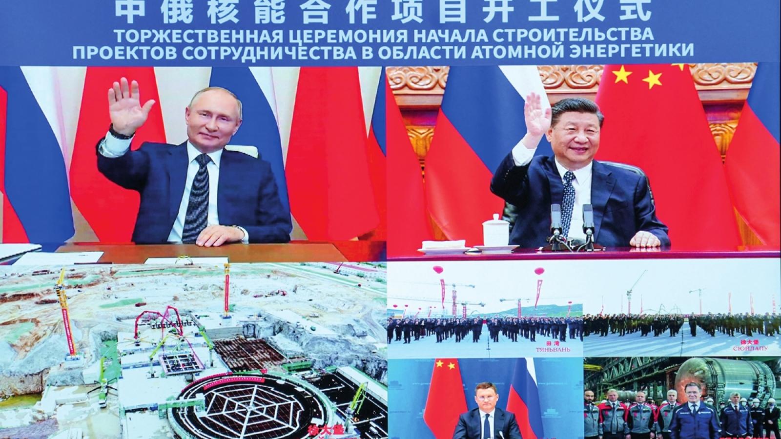 Chủ tịch Trung Quốc: Điện hạt nhân là hợp tác ưu tiên chiến lược với Nga
