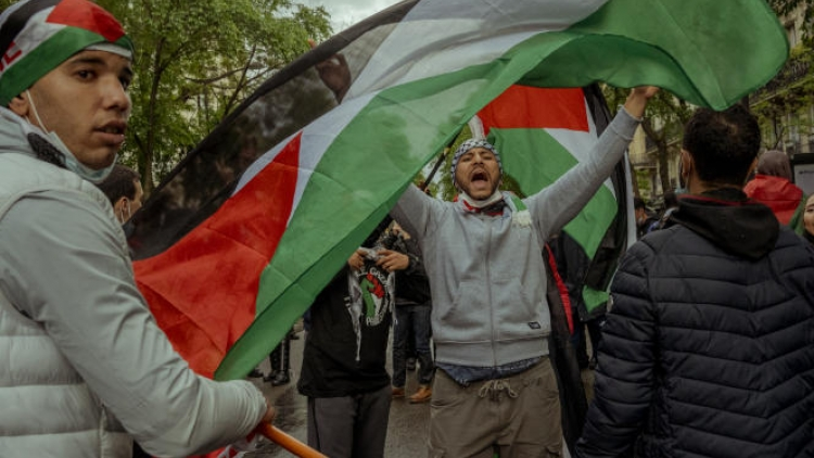 Hàng chục nghìn người biểu tình ở Pháp ủng hộ Palestine