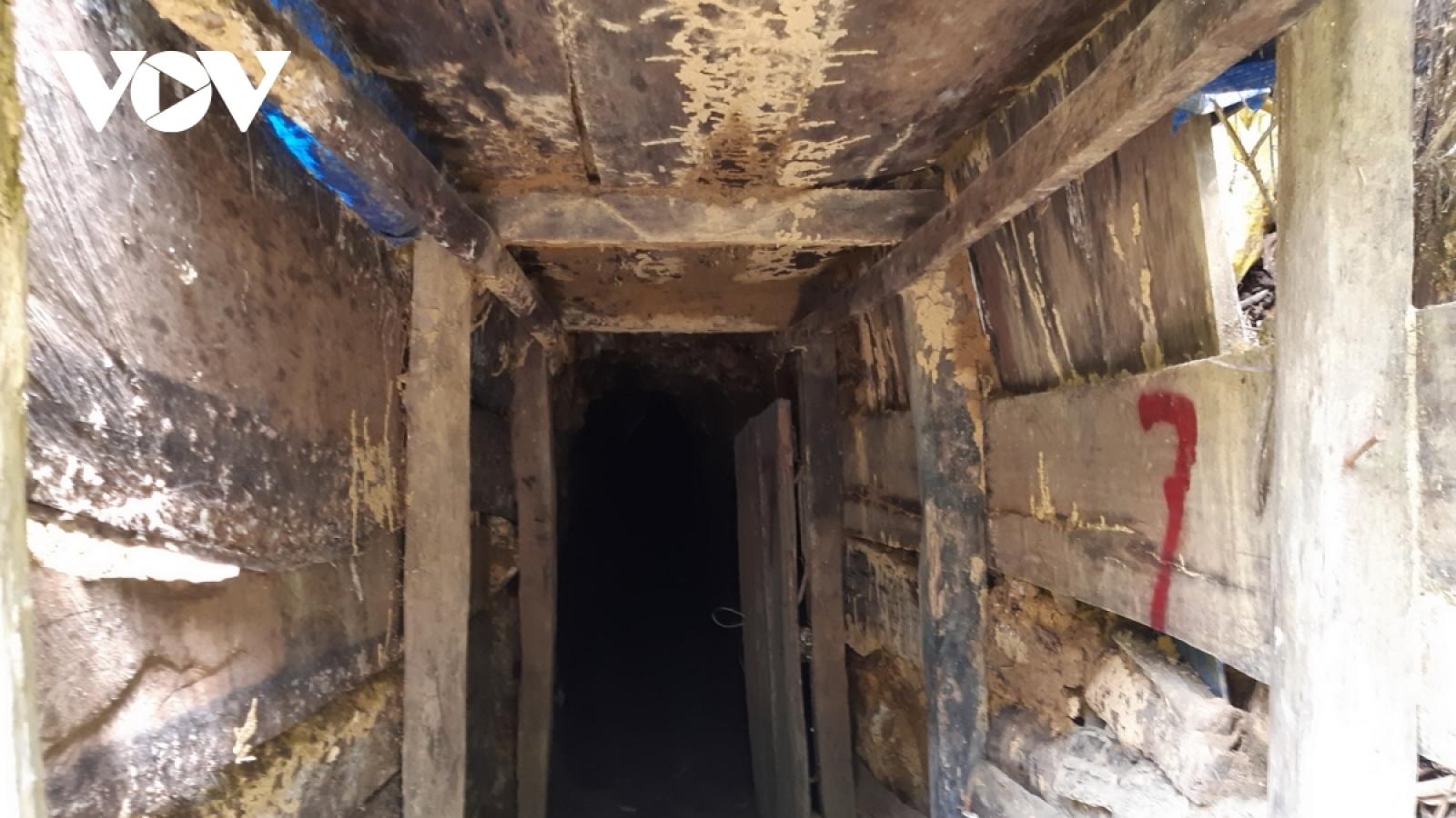 Bộ Quốc Phòng thống nhất chủ trương phá hủy hầm vàng trái phép tại tỉnh Quảng Nam