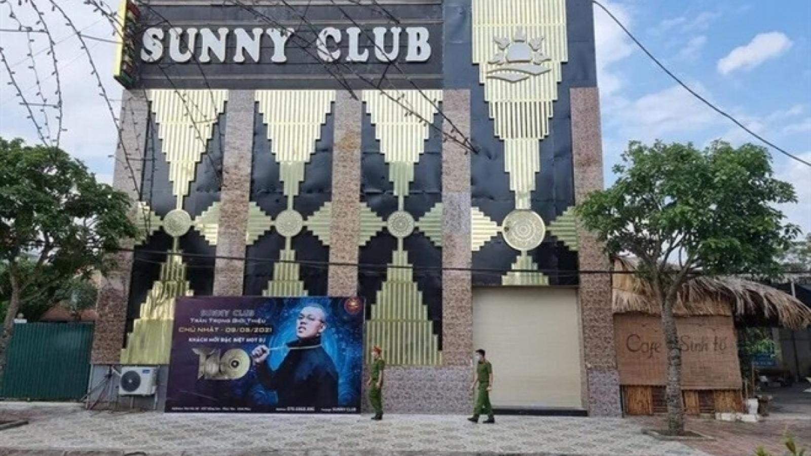 Khởi tố vụ án liên quan bar Sunny ở Vĩnh Phúc
