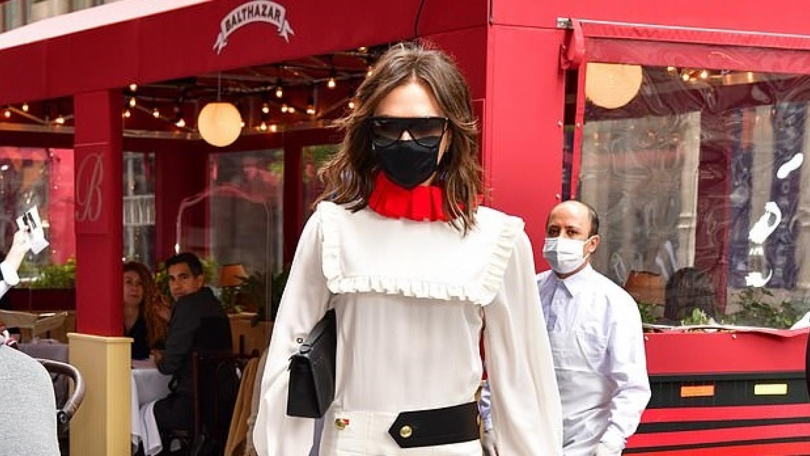 Victoria Beckham diện đồ phong cách, khoe dáng thanh mảnh trên phố