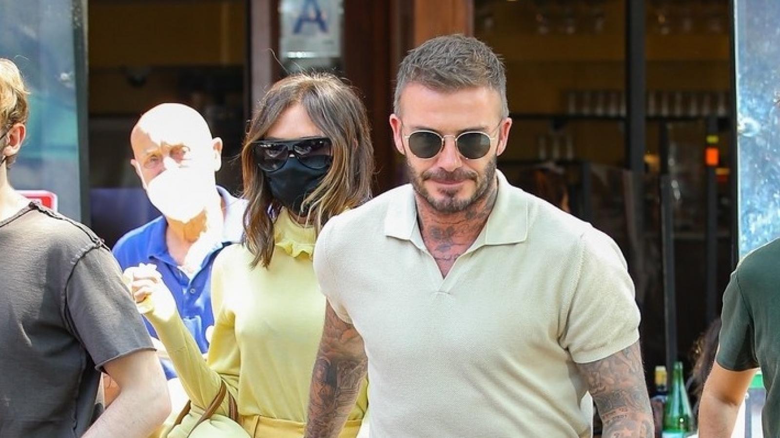Vợ chồng David Beckham - Victoria nắm tay tình cảm đi ăn trưa