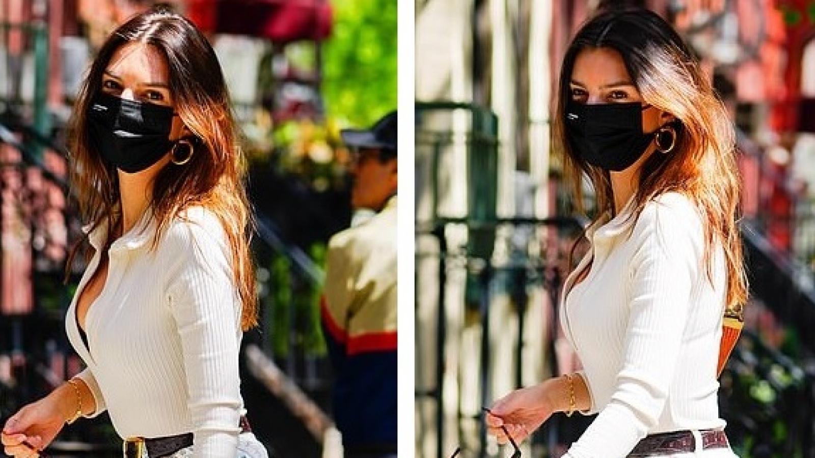 Emily Ratajakowski diện đồ lạ mắt khoe dáng nóng bỏng trên đường phố New York
